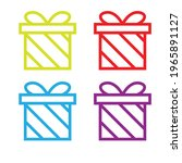 colorful gift box set icon... | Shutterstock .eps vector #1965891127