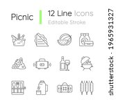 picnic linear icons set.... | Shutterstock .eps vector #1965931327