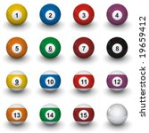 billiard balls | Shutterstock . vector #19659412