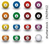 billiard balls | Shutterstock . vector #19659412