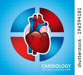 medical design over blue...   Shutterstock .eps vector #196594181