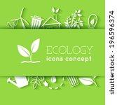 flat eco background concept....   Shutterstock .eps vector #196596374