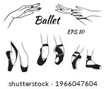ballet. pointe shoes on the... | Shutterstock .eps vector #1966047604