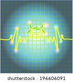 heartbeat diagram concept make... | Shutterstock .eps vector #196606091