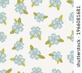 seamless floral pattern design... | Shutterstock .eps vector #1966081681