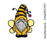 bee gnome  bumblebee summer... | Shutterstock .eps vector #1966091797