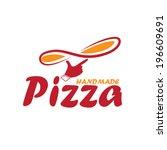 handmade pizza illustration | Shutterstock .eps vector #196609691