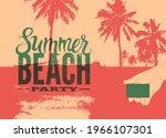summer beach party typographic... | Shutterstock .eps vector #1966107301