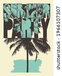 summer party typographic grunge ... | Shutterstock .eps vector #1966107307