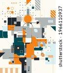 modern artwork of abstract... | Shutterstock .eps vector #1966110937