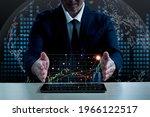 an asian man wearing a suit...   Shutterstock . vector #1966122517