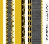 ethnic motif handdrawn print.... | Shutterstock .eps vector #1966156924