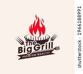 vintage grills barbecue with... | Shutterstock .eps vector #1966188991