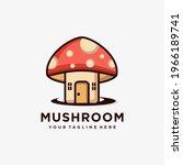 mushroom farming logo vector... | Shutterstock .eps vector #1966189741