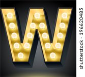 realistic dark lamp alphabet...   Shutterstock .eps vector #196620485