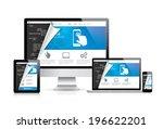internet web coding development ... | Shutterstock .eps vector #196622201