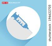 Syringe Icon In White Circle  ...