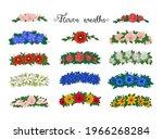 Flower Wreaths. Set Of Flower...