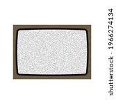 old tv no signal screen....