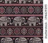 vintage graphic vector indian... | Shutterstock .eps vector #196629395