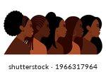 black women. five attractive... | Shutterstock .eps vector #1966317964