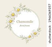 chamomile flowers round frame ...   Shutterstock .eps vector #1966369357