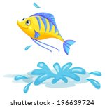 Illustration Of A Yellow Fish...