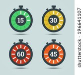 timer icons with color... | Shutterstock .eps vector #196641107