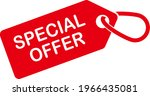 special offer tag. red color.... | Shutterstock .eps vector #1966435081