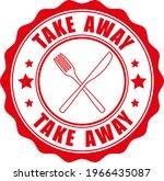 take away. stamp. sticker. seal.... | Shutterstock .eps vector #1966435087