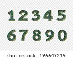 numbers set. illustration | Shutterstock .eps vector #196649219