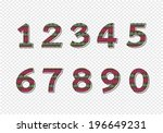 numbers set. illustration | Shutterstock .eps vector #196649231