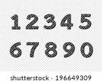 numbers set. illustration | Shutterstock .eps vector #196649309