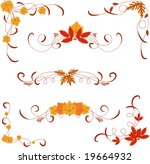 different autumn design... | Shutterstock .eps vector #19664932
