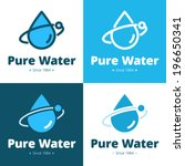 simple vector icon with water... | Shutterstock .eps vector #196650341