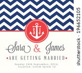 Nautical Wedding Invitation Card
