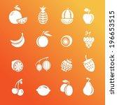 berries and fruit. set of...   Shutterstock .eps vector #196653515