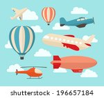 set of colorful flat air... | Shutterstock .eps vector #196657184