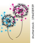vector dandelions with... | Shutterstock .eps vector #196658939