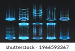 realistic portal. level up and... | Shutterstock .eps vector #1966593367