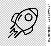 Simple Rocket Icon  Space Ship. ...