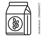 flour pack icon. outline flour...   Shutterstock .eps vector #1966600417