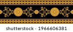 luxury seamless border with... | Shutterstock .eps vector #1966606381