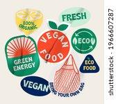 bio organic labels. ecology... | Shutterstock .eps vector #1966607287