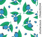 blueberry vector seamless... | Shutterstock .eps vector #1966650244