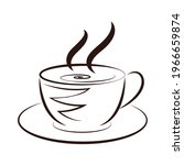 coffee cup icon. hot coffee... | Shutterstock .eps vector #1966659874