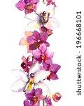 floral seamless frame border...   Shutterstock . vector #196668101