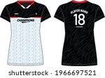 women sports jersey t shirt... | Shutterstock .eps vector #1966697521