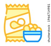 chips snack color icon vector.... | Shutterstock .eps vector #1966714981