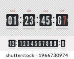 analog airport board countdown...